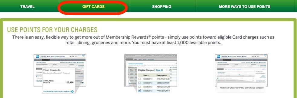 Then Select the Gift Cards From the Top Menu