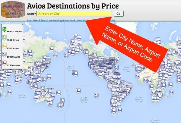 An Easy Way To See Where You Can Go With British Airways Avios Points