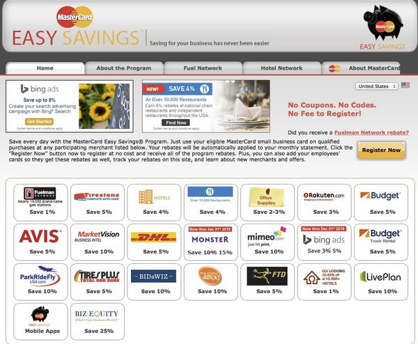Automatic Rebates at Hotels, Restaurants, Car Rentals With Mastercard Easy Savings Program