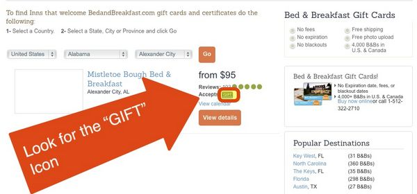 Find Small Town Charm Romance With BedandBreakfast.com 50 Gift Card
