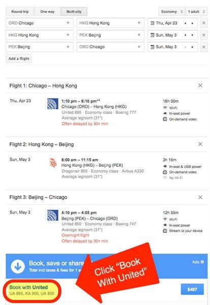 Hot Chicago To Hong Kong For 497 Round Trip