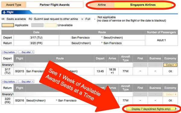 How To Earn And Use Virgin America Points Part 3 Using Virgin America Points On Partners Singapore Airlines