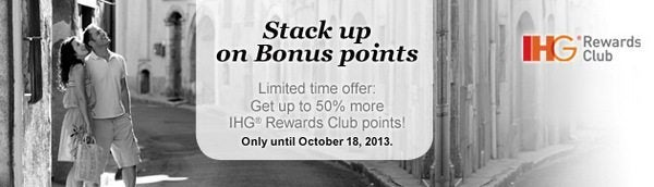 IHG Offering 50% Bonus on the Purchase of Points