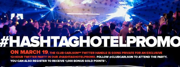 Reminder Register by 11:00 Am Eastern Time TODAY For Club Carlson 1,000 Point Twitter Bonus