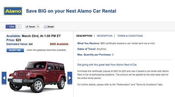 Today Only Save On Alamo Car Rentals