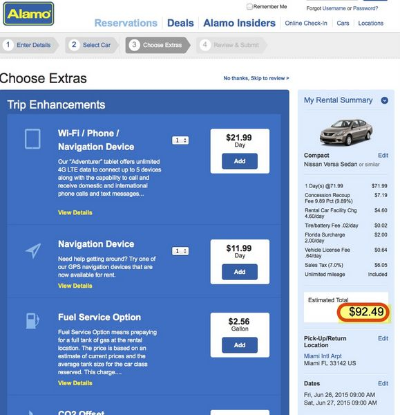How To Buy Alamo Car Rental Certificate