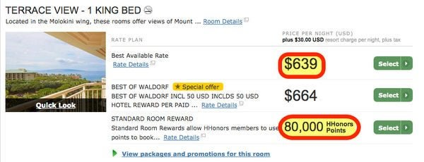 Today Only Save On Hilton Points