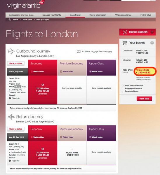 25 Bonus When You Transfer AMEX Membership Rewards Points To Virgin Atlantic