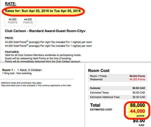 Club Carlson Card Downgraded BUT You Can Still Get Big Hotel Travel Through 2016