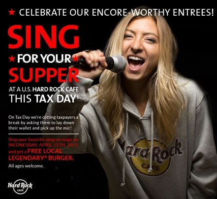 Today Only Tax Day Meal Deals Free Food Discounts 5X Points