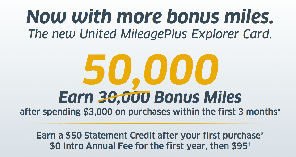 United Airlines Explorer Card Sign Up Bonus Increased To