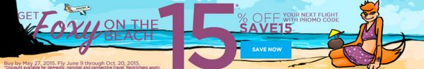 Today Only Save 15 On Frontier Airlines