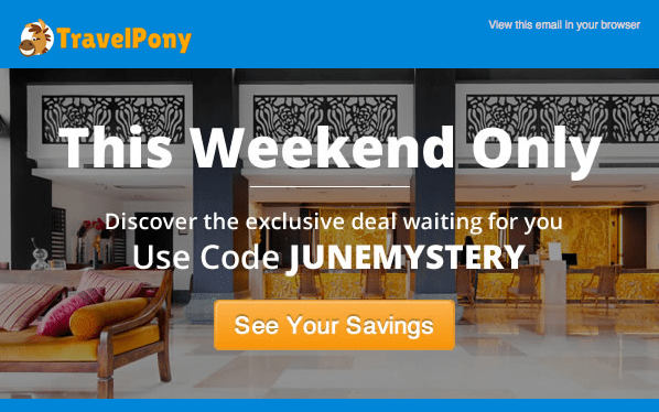This Weekend Only:  TravelPony Mystery Sale!