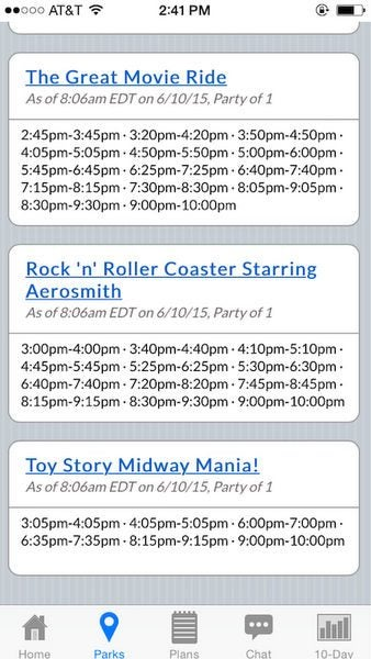 Experience More Rides And Less Waiting At Disney With Touringplans.com Mobile App