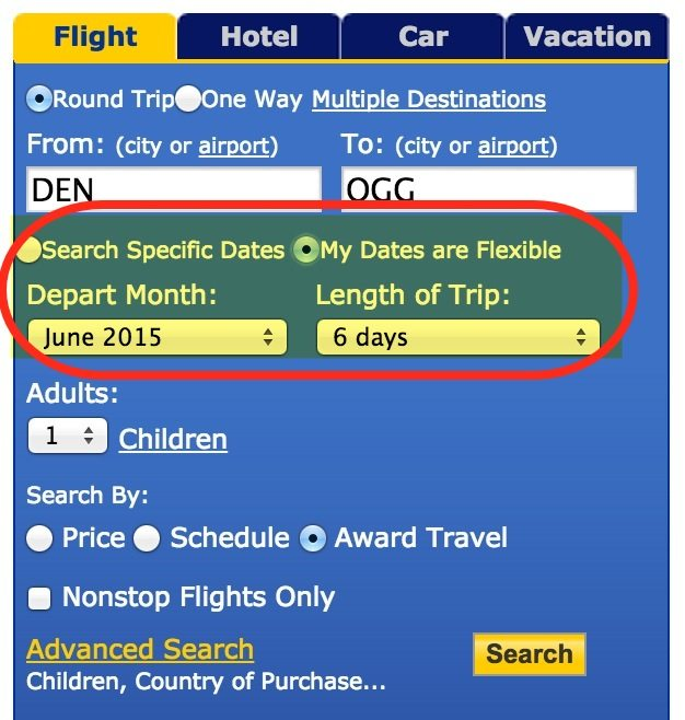 """Select """"My Dates are Flexible"""" to See More Days With Open Seats"""