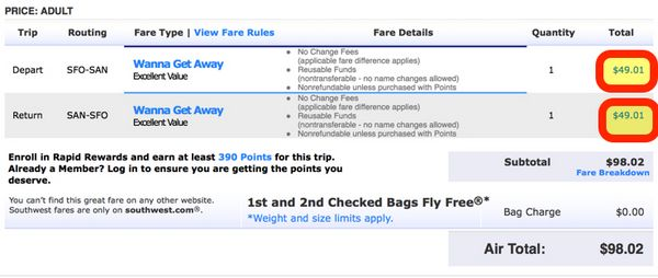 Southwest Sale 49 Flights Each Way Ends Thursday