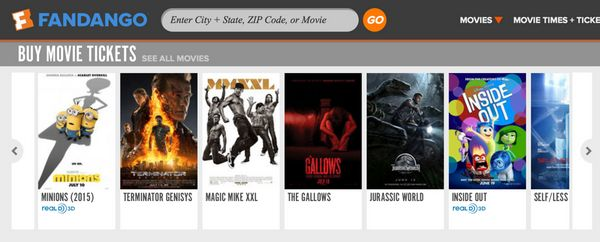 10 Off Movie Tickets On Saturday Sunday At Fandango With Visa Checkout