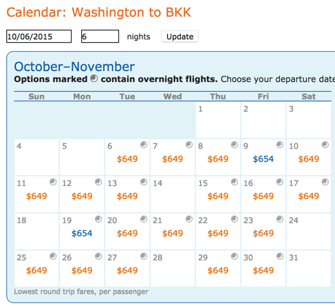 Most Days in October Are ~$649 Round-Trip From Washington, DC to Bangkok, Thailand
