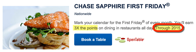 Enjoy 3X Chase Ultimate Rewards Points on First Fridays Until the End of the Year!