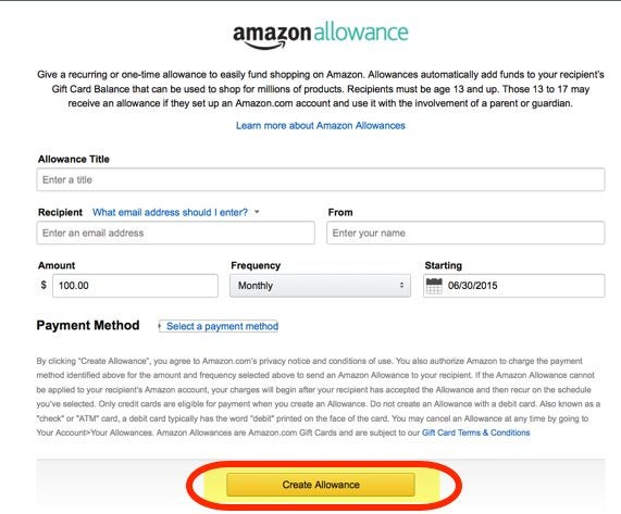 Earn More Points With The New Amazon Allowance