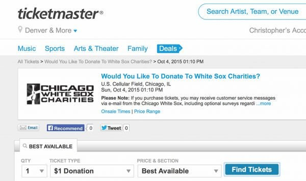 Easy 9 Profit And 1 To Charity With AMEX Express Checkout Ticketmaster