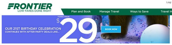Frontier Airlines Sale 1 Way Fares Starting At 29 Ends Tomorrow