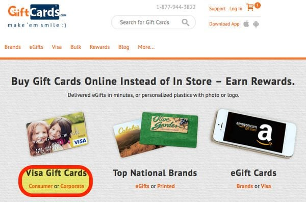 Meet Minimum Spending Requirements For Almost Free At GiftCards.com