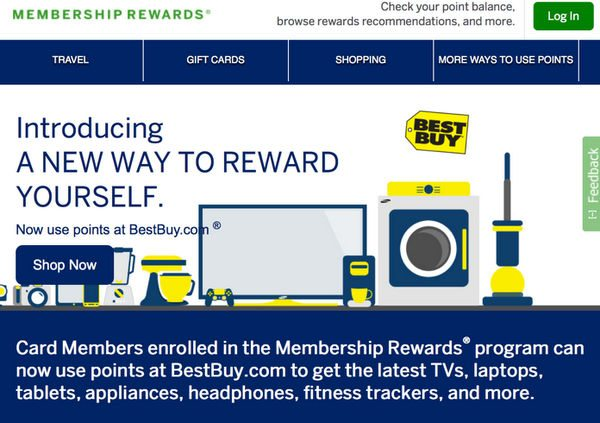 New: AMEX Membership Rewards Points to Pay at Bestbuy.com