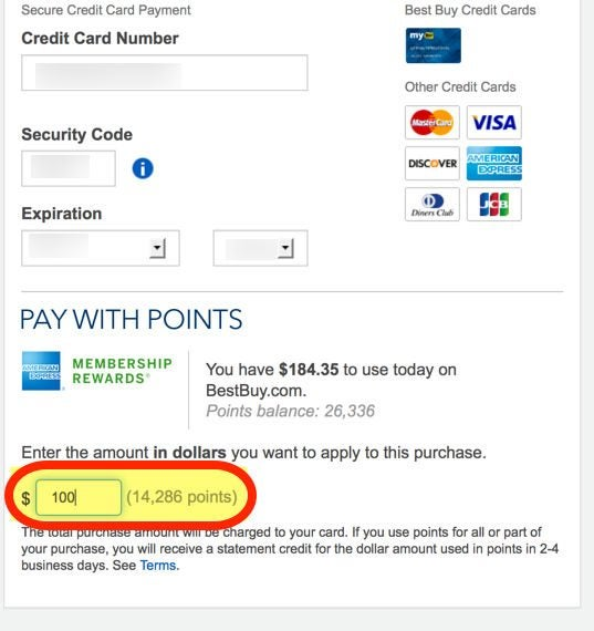 New AMEX Membership Rewards Points To Pay At Bestbuy.com