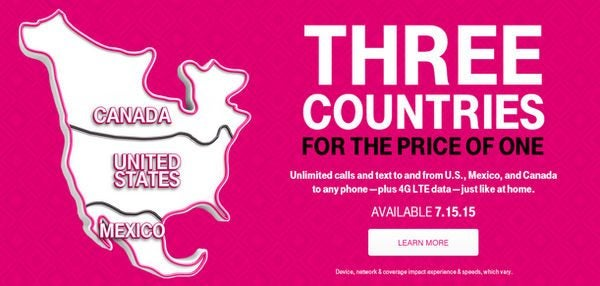 Travelers to Canada and Mexico Can Save Money With New T-Mobile Plan
