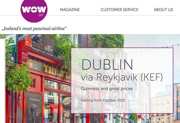 WOW: $99 1-Way Baltimore & Boston to Amsterdam, Dublin, Paris