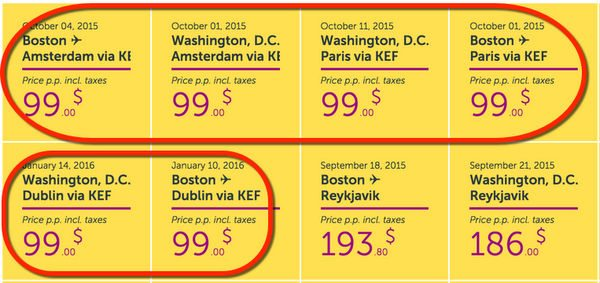 WOW 99 1-Way Baltimore Boston To Amsterdam Dublin Paris