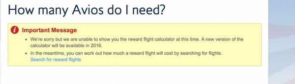 A Glitch or Is British Airways Changing Their Mileage Program?