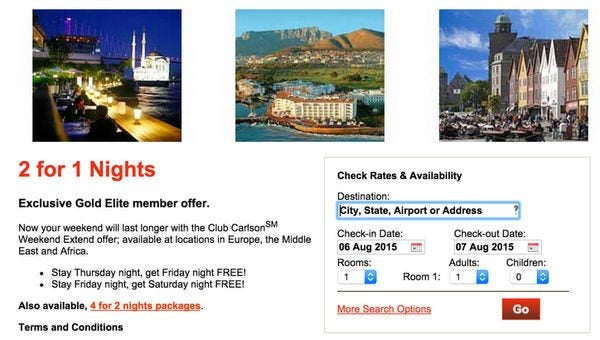 Big Hotel Discounts In Europe More With Club Carlson Card