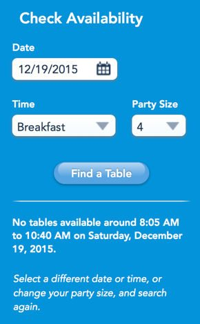 Save Time Finding Disney Restaurant Reservations With Disney Dining Buddy