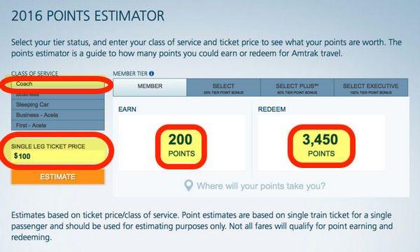 Best Amtrak Deals Using Their New Award Program