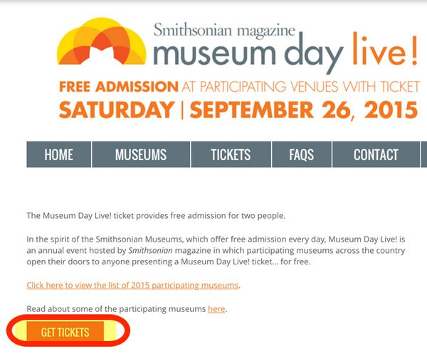 Reminder Free Entry Into US Museums Tomorrow