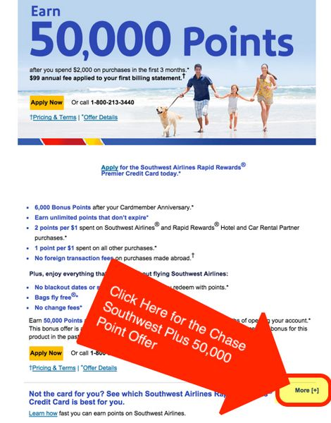 The Secret To Getting The Chase Southwest Plus 50,000 Point Offer
