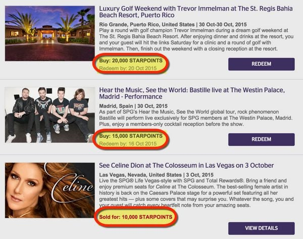 Use Your Starwood Points For Unforgettable Experiences With SPG Moments