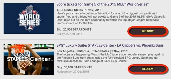 New SPG Moments The Rockettes World Series Tickets Celine Dion Britney Spears More