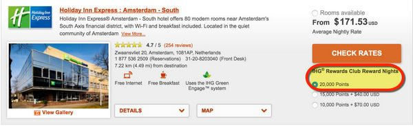 Cheap Stays At Holiday Inn Using Points From Orlando To Amsterdam