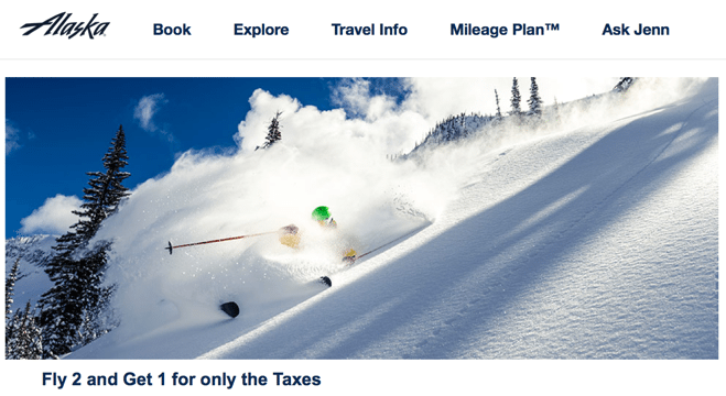 Nearly Free Round Trip Alaska Airlines Ticket To Ski Destinations When You Fly Twice This Winter