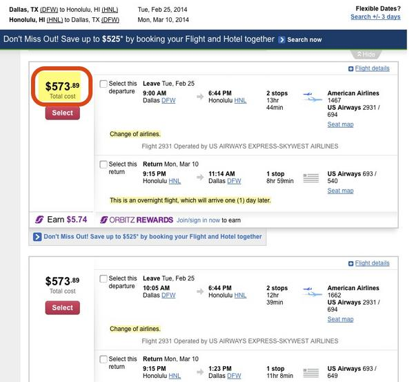 $385 From Chicago or Dallas to Honolulu, Hawaii (Includes Spring Break!) [Expired]