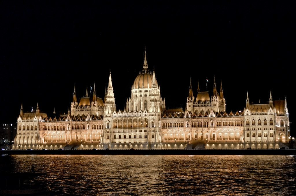 Seeing the parliament building all lit up in Budapest, Hungary was a highlight along with visiting the Szechenyi Baths, another famous destination in Budapest.