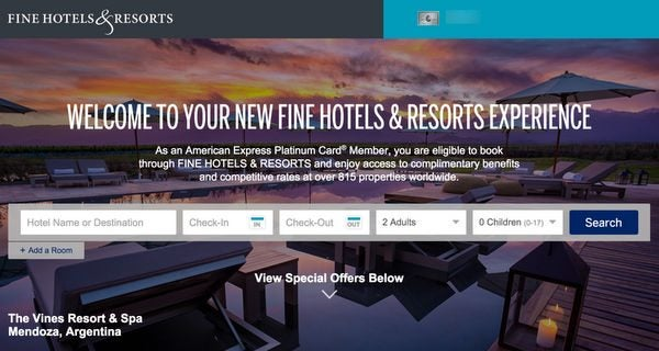 How To Get Travel With Small Money Using The Amex Fine Hotels Resorts Program