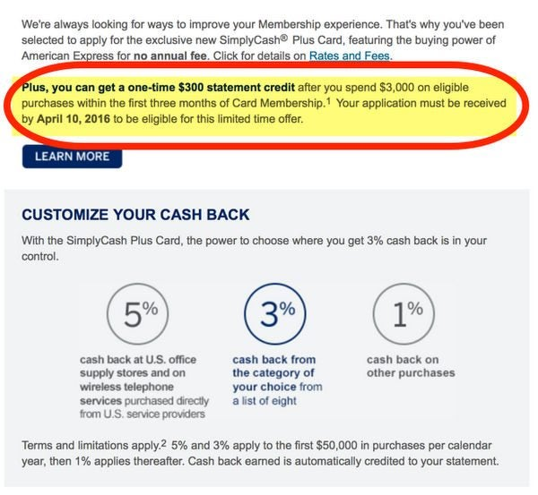 Better Bonus Coming For AMEX SimplyCash Plus Card