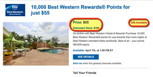 Buy Discounted Best Western Points With Daily Getaways And Save Big Money
