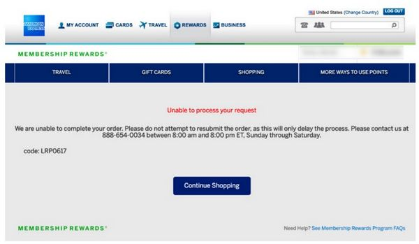 AMEX Freezing Some Membership Rewards Accounts