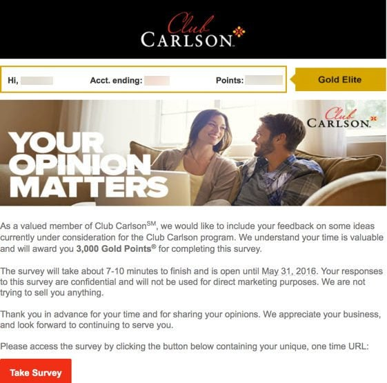 Earn 3000 Club Carlson Points For Completing A Survey Sneak Peek At Possible Rewards Program Changes Targeted