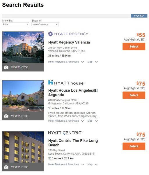 Hyatt Website Trick Saves Time Searching For Available Points Cash Rooms